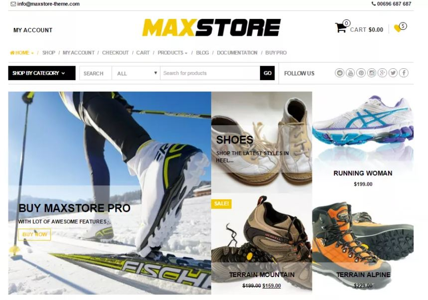 MaxStore - e-Commerce Theme Based on WooCommerce