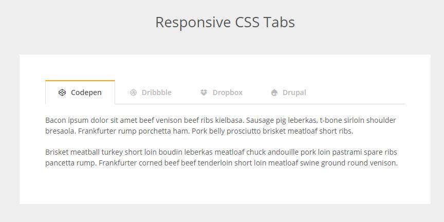 Responsive CSS Tab Menu