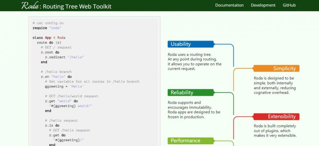 Roda - Routing Tree Web Toolkit