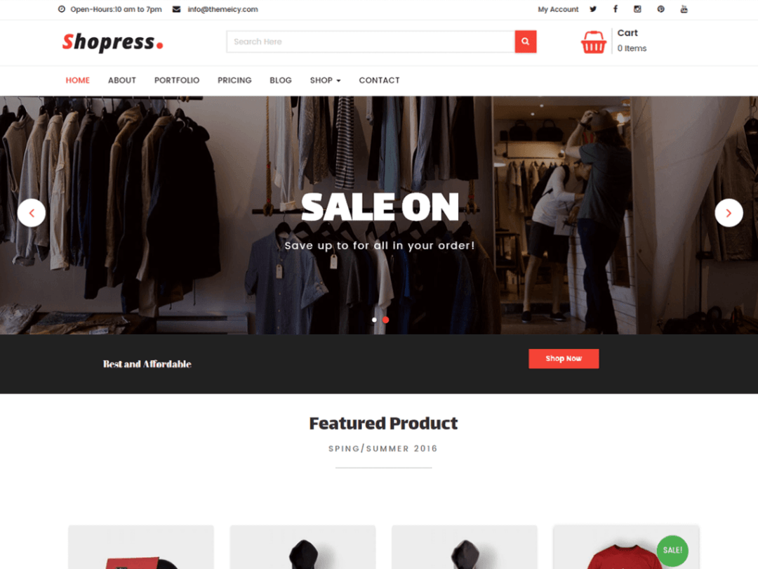 Shopress - Shopress Woocomerce WordPress Theme