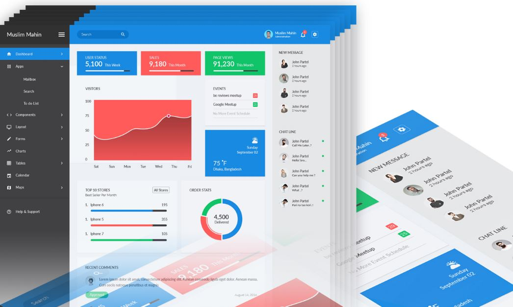 Theme.zilla Admin Dashboard Freebie