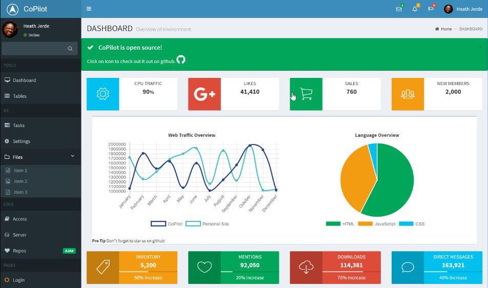 CoPilot - Responsive Bootstrap Admin Template
