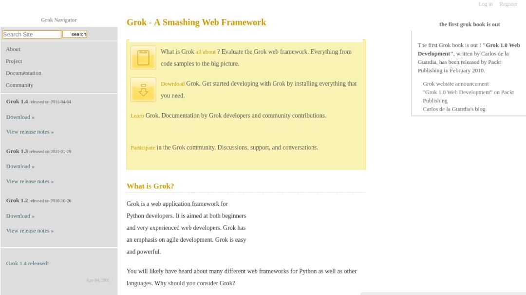 Grok Python Framework