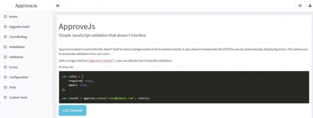 APPROVEJS - JavaScript Validation