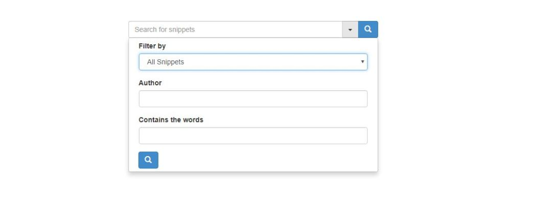 Advanced Dropdown Search