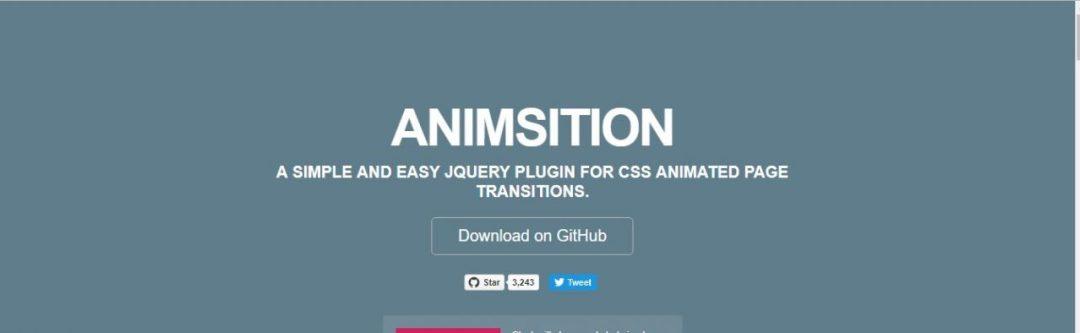 Animsition -CSS ANIMATED