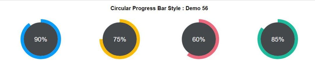 Circular Progress Bar Style Bootstrap
