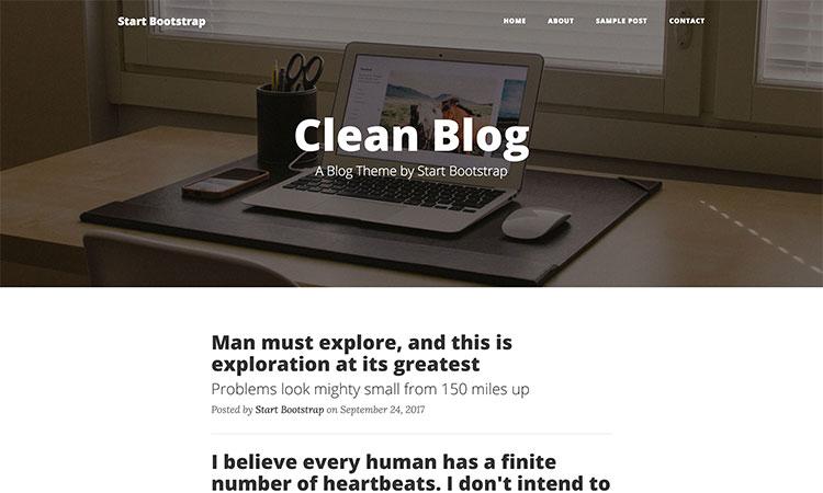 Clean Blog Bootstrap Theme