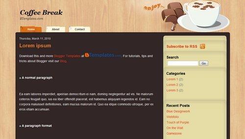 Coffee Break - Bootstrap Blogger Template