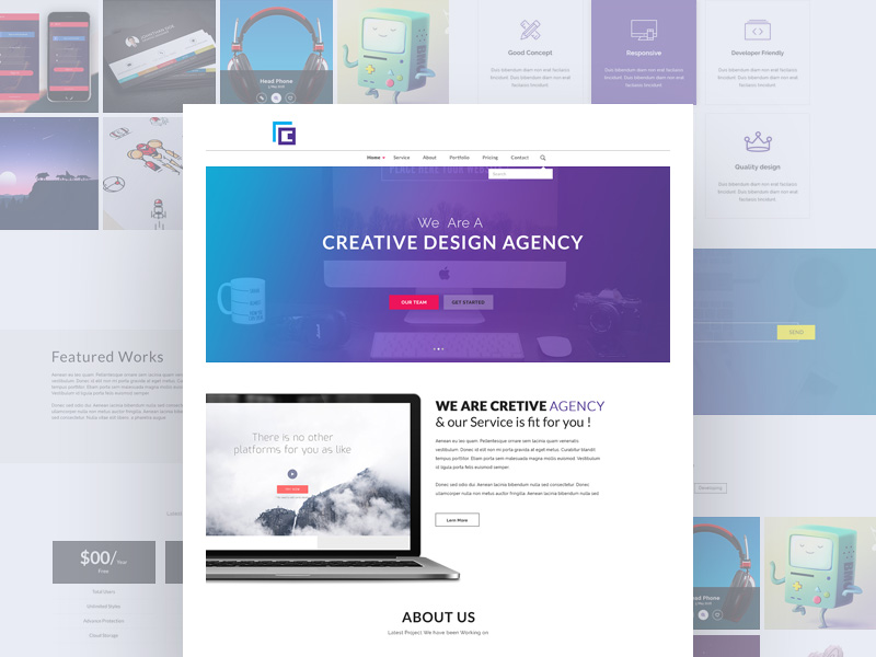 Creative Design Agency PSD