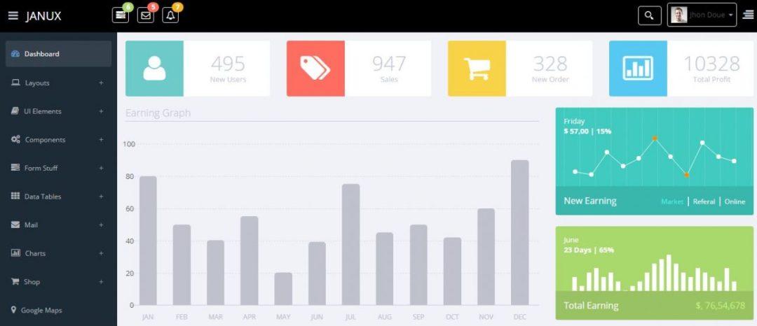 JANUX- Free Admin Dashboard Template