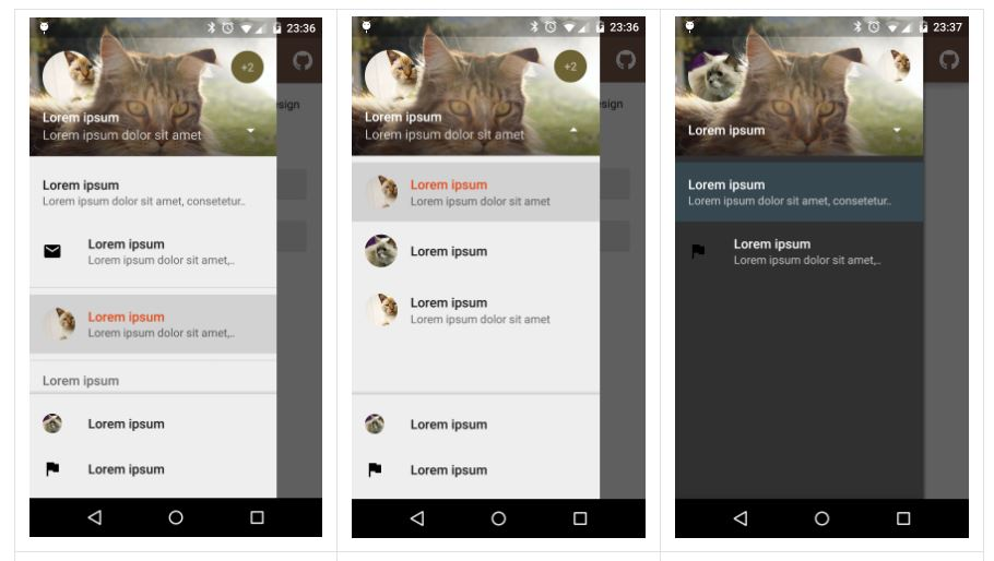Material Drawer For Material Design Apps