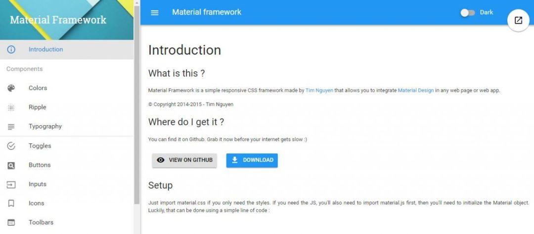 Material Framework