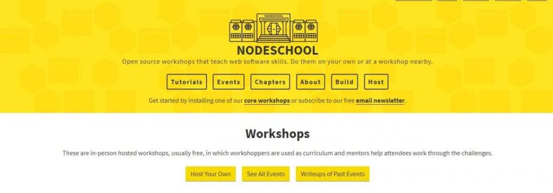 NodeSchool - Best NodeJS Getting Started Tutorials