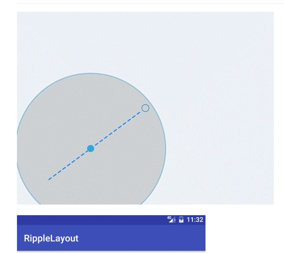 RippleLayout - Ripple Effect for Transition Animation