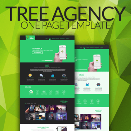 Tree Agency - One Page Template