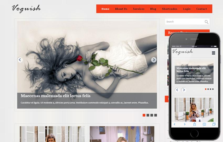 Voguish - A Blogging Bootstrap Template