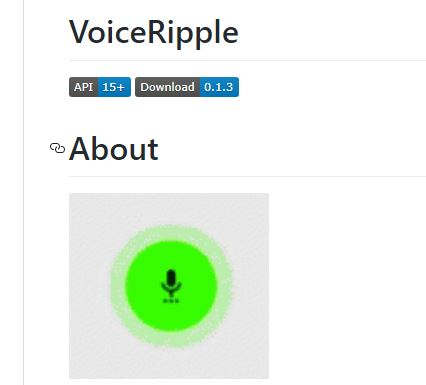 VoiceRipple - Voice Record Button Ripple Effect