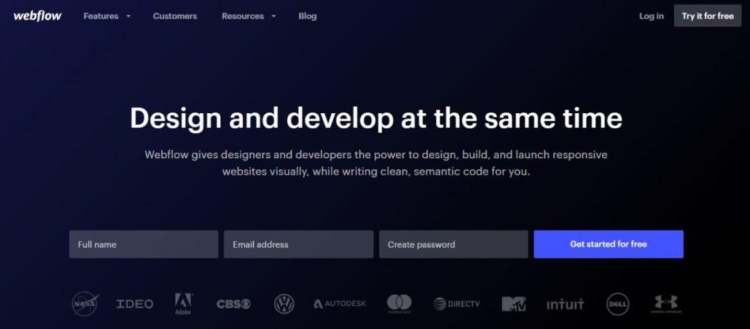 Webflow -Design and Develop Together