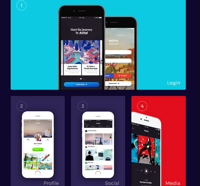 Avital Mobile UI Kits