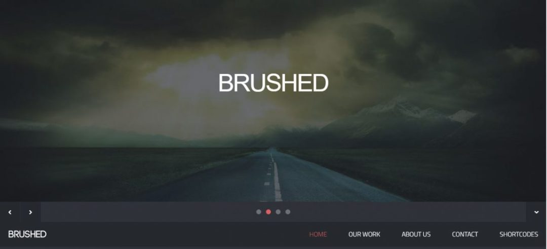 Brushed - Responsive HTML Template