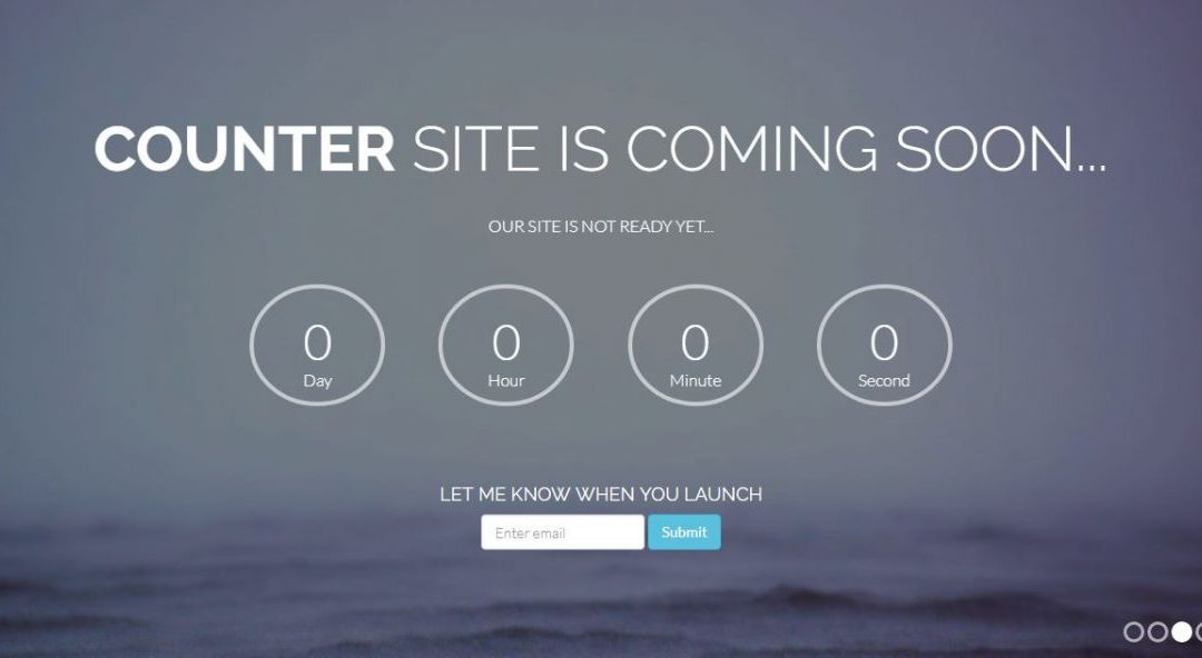 Counter - Coming Soon Page