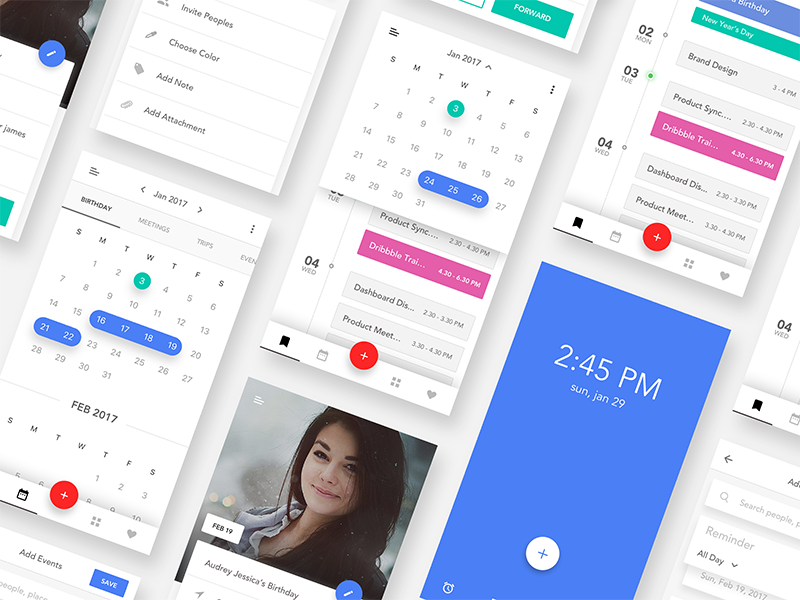Event Calendar iOS App UI Kit