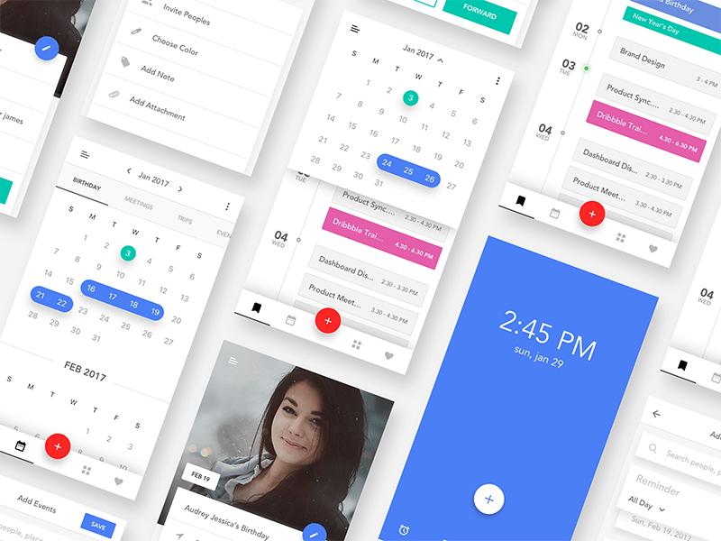 Event Calendar iOS App UI Kit