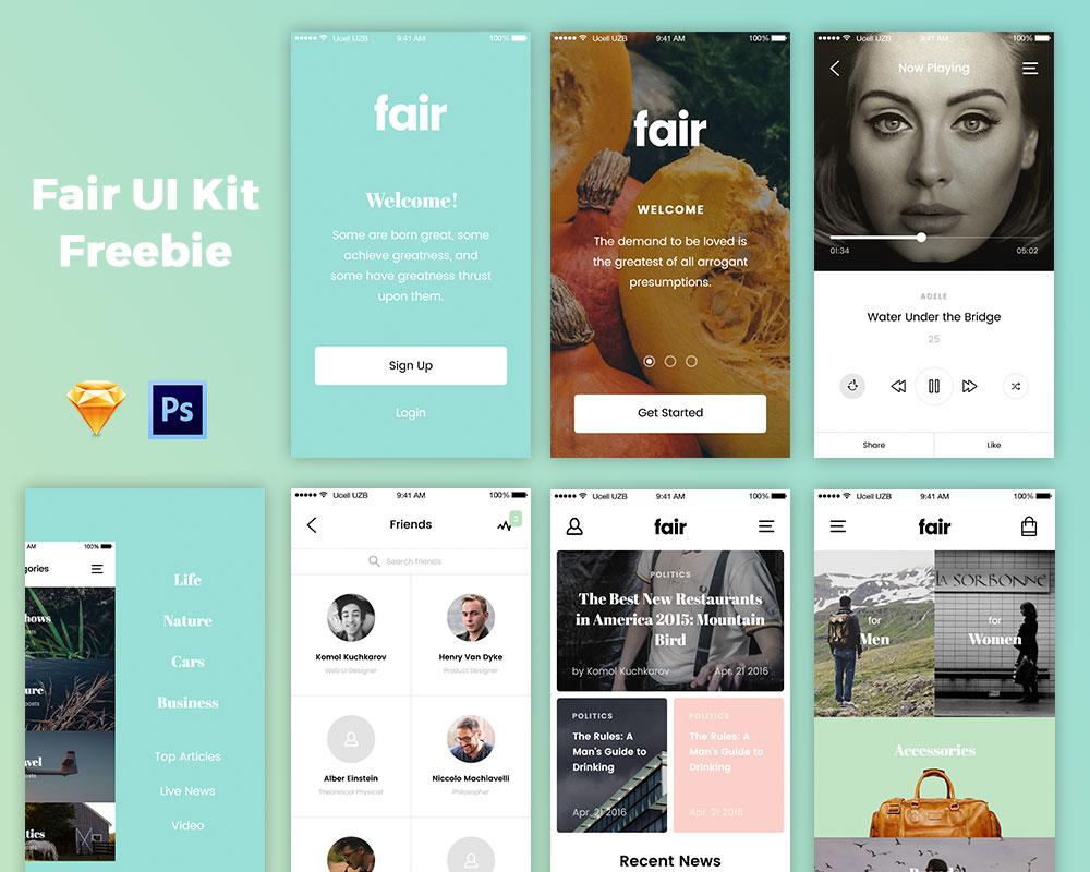 Fair UI Kit Freebie