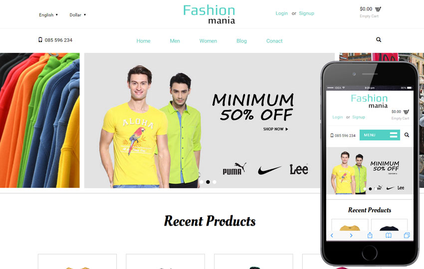 Fashion Mania Bootstrap Template