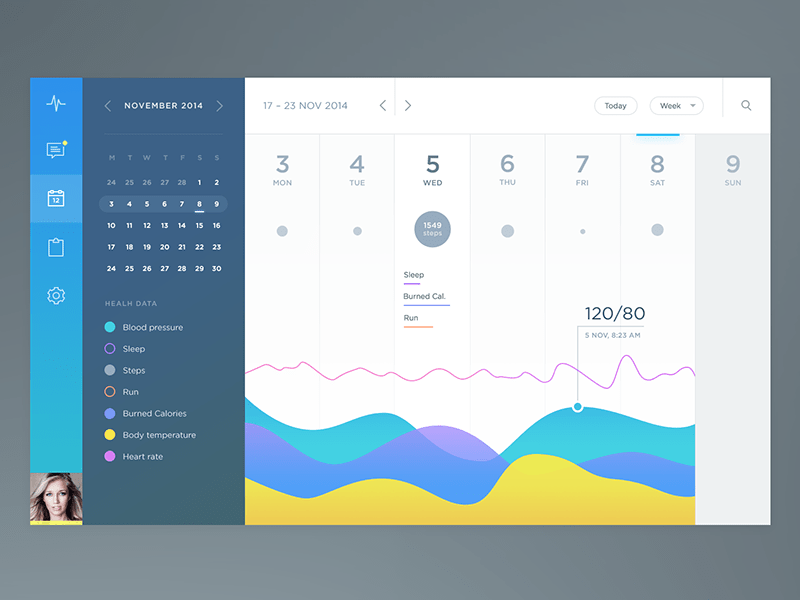 Health App Calendar