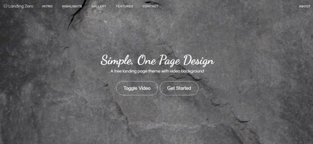 Landing Zero - One Page Design
