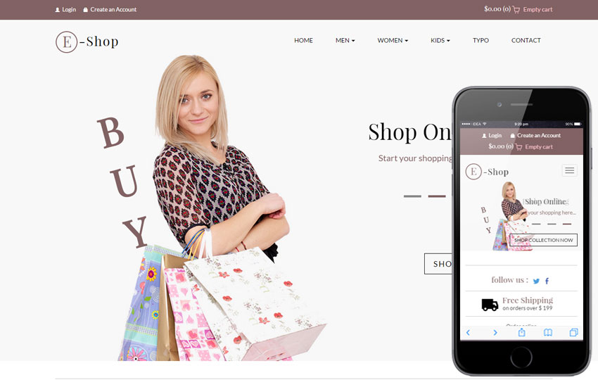 Shopping - Flat E-commerce Bootstrap Template