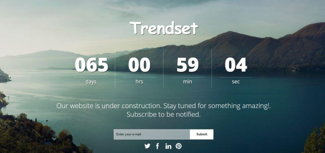 Trendset Coming Soon Templates