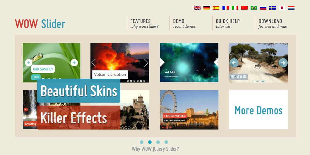 WOW Slider Slideshow