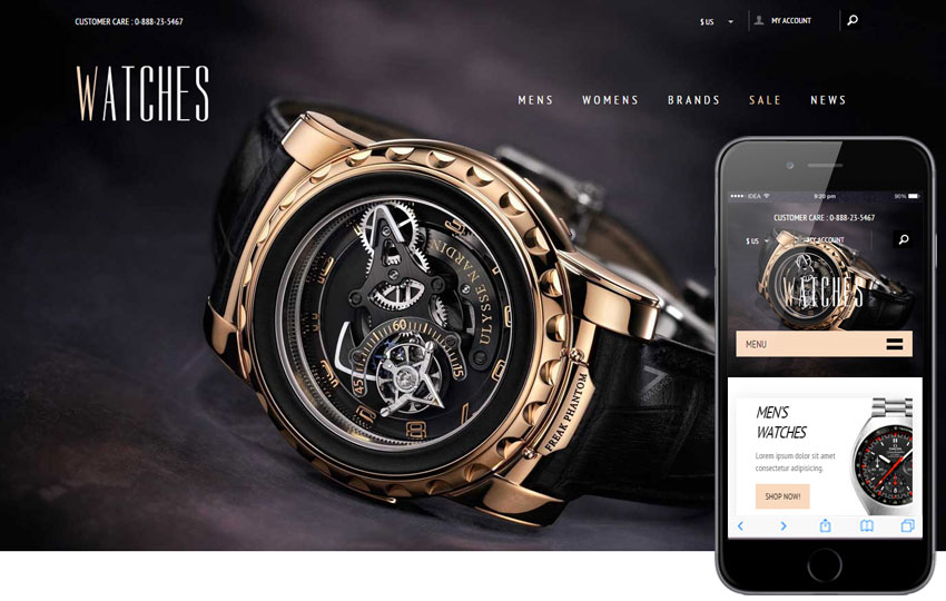Watches - Ecommerce Web Template