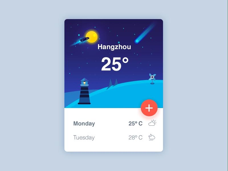 Weather UI Rebound