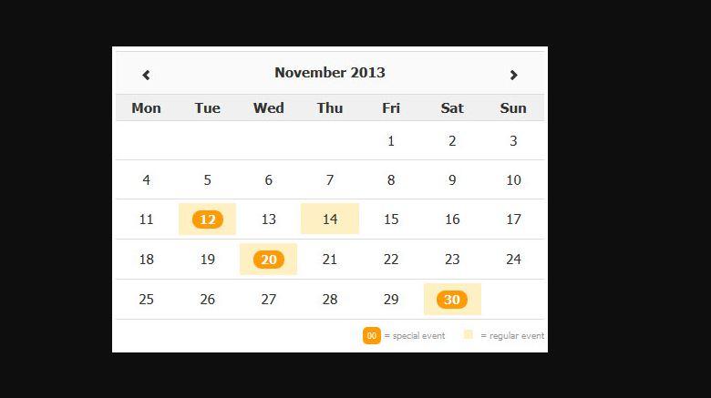 Zabuto Calendar