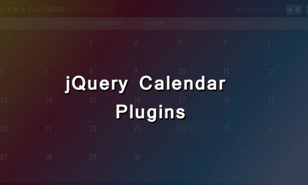 12 Best Free jQuery Calendar Plugins for Web Designers
