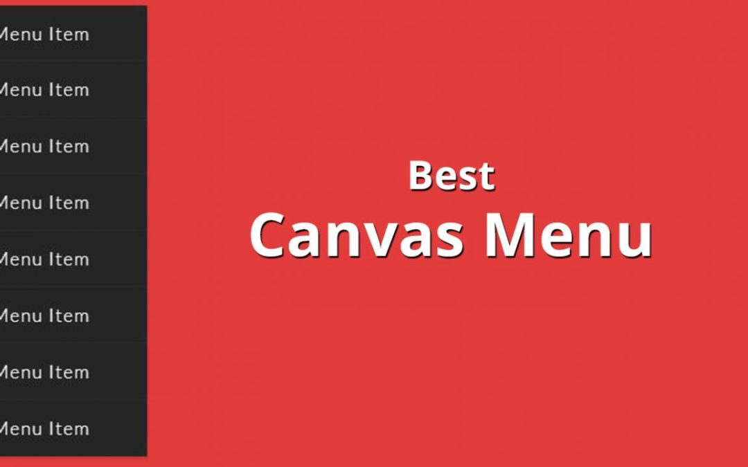 BEST FREE RESPONSIVE CANVAS MENU