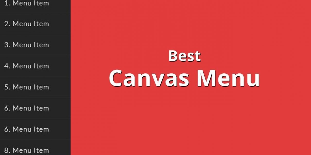 16+ Best Free Responsive Canvas Menu