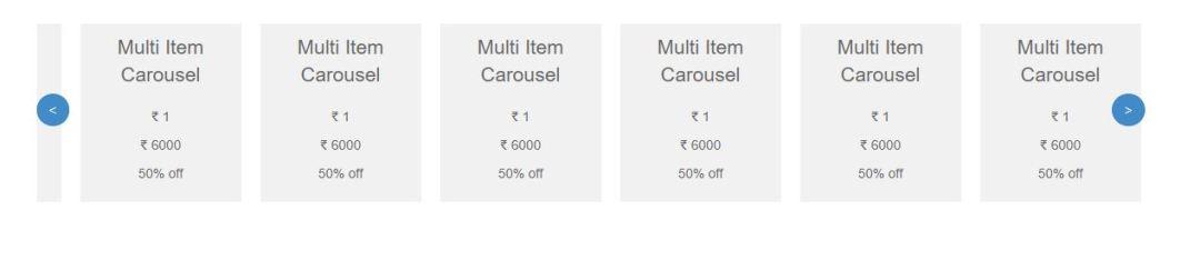 Multi Item Carousel