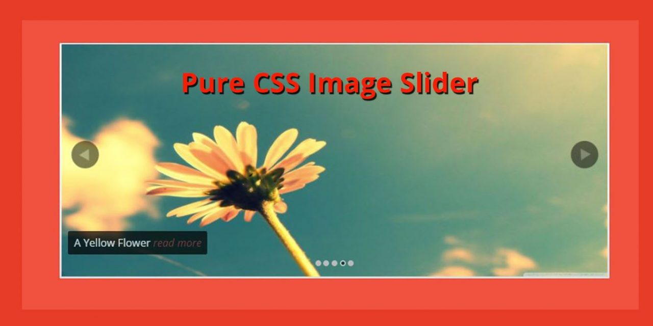 12+ Cool Pure CSS Image Slider