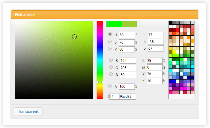 Jquery Color Pickers