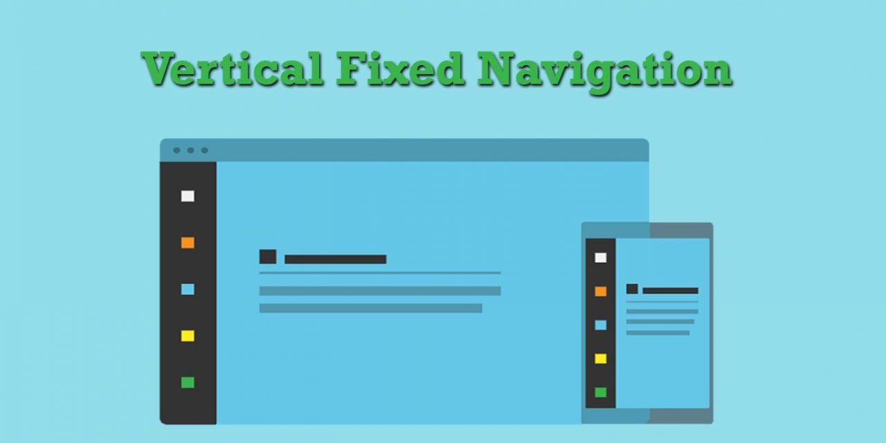 Vertical Fixed Navigation Menu Snippet