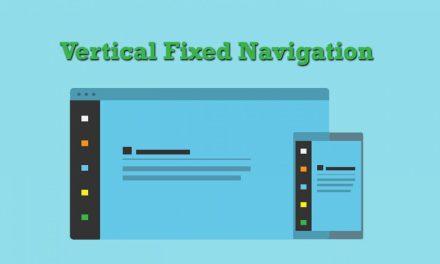 Vertical Fixed Navigation Menu Snippet