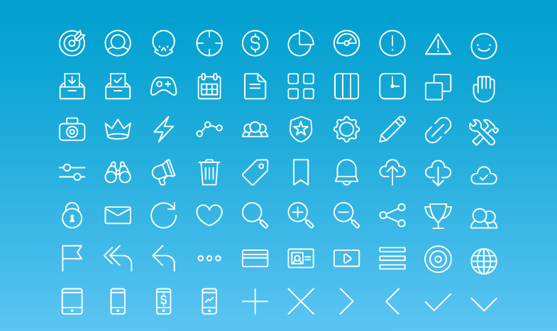 70 Free All Purpose Line Icons