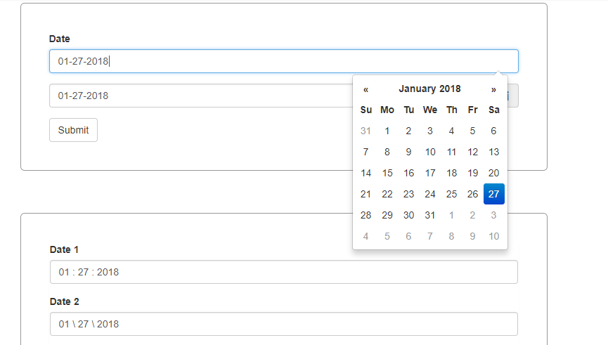 Bootstrap Date Picker – Set Current Date