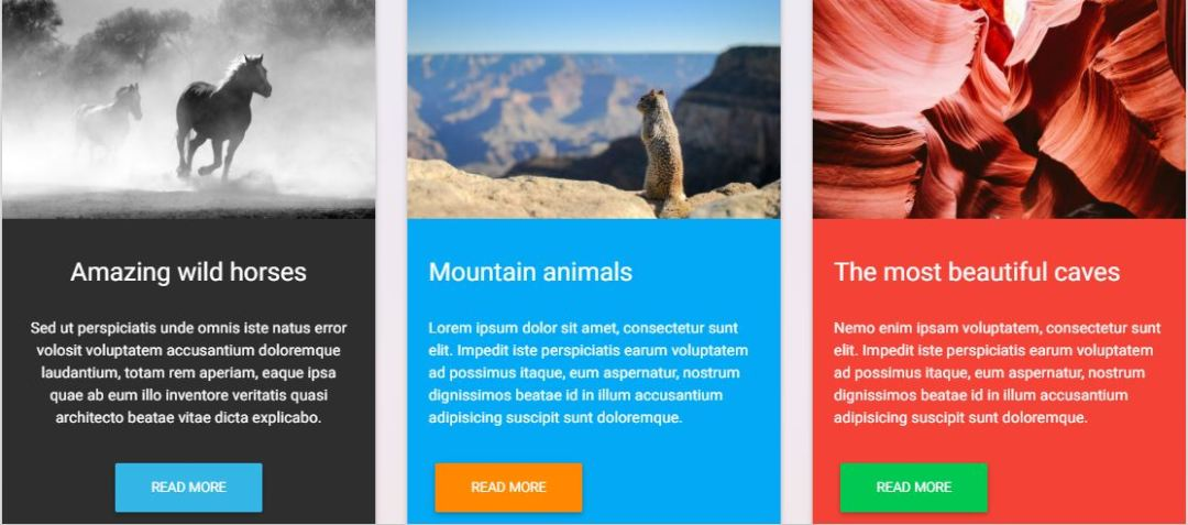 Bootstrap Material Design Cards