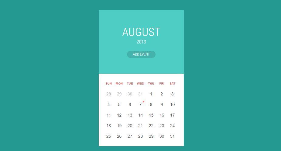 Calendar Material Design